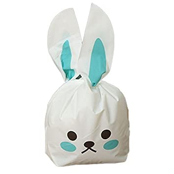 Nacpy candy bags bunny shape treat bags rabbit ear plastic biscuit nacpy candy bags bunny shape treat bags rabbit ear plastic biscuit packaging bag cookie bags for negle Images