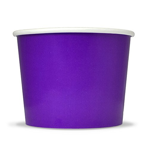 (Purple Easter Paper Ice Cream Cups - 12 oz Disposable Dessert Bowls - Perfect For Your Yummy Foods! Many Colors & Sizes - Frozen Dessert Supplies - Fast Shipping! 50 Count)