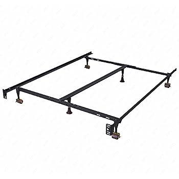 Amazon.com: Bed Frame MetalPlatform Steel Frame Heavy Duty ...