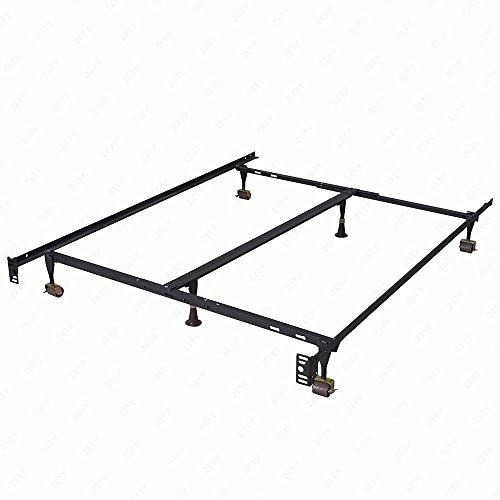 New Modern Bi-Fold Folding Platform Metal Bed Frame Mattress Foundation