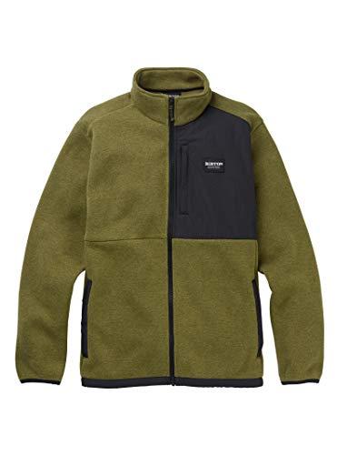 (Burton Men's Men's Hayrider Sweater Fleece Full-Zip, Martini Olive/Phantom, Large)