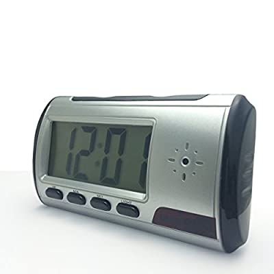 D-eyecam Mini Hidden Camera Alarm Clock Improved Version Motion Detection with Audio & Video Recorder for Home Surveillance & Security (a Free 8G Micro SD Card)
