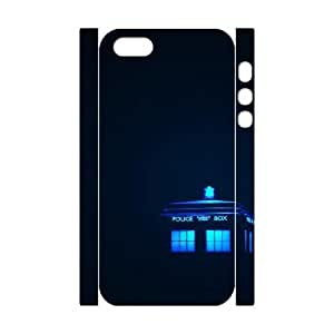 3D Doctor Who Series, iPhone 5,5S Cases, Doctor Who Police Box Cases For iPhone 5,5S [White] by tigerbrace