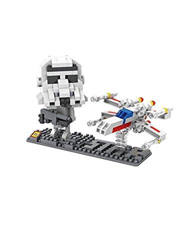 LOZ Star Wars Diamond Nano-Block(mini blocks) 2 pc set- Storm Trooper & Fighter