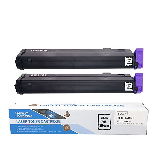 OKI 43502301 Toner Cartridge 2 PACK Black Compatible for OKI B4400 B4400N B4500 B4500N B4550 B4550N B4600 B4600N B4600N PS 3000 Page Yields (Laser B4400 Printer)