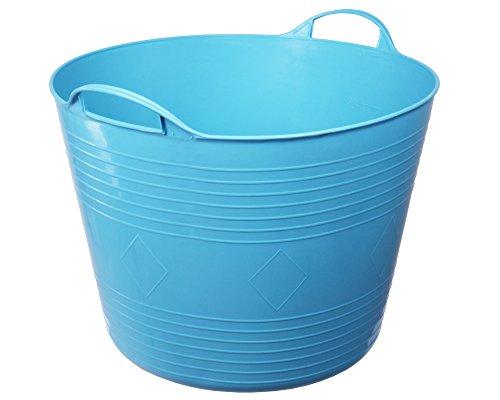 Flexi Tub Tragekorb Gartenkorb Wäschekorb Spielzeugeimer 40 Liter blau rund