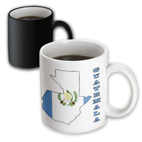3dRose mug 58773 3 Guatemala Outline Transforming