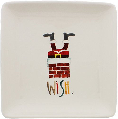 Pottery Christmas Plate (Rae Dunn by Magenta WISH Santa Christmas 8