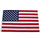 Cheap Aro Lora American US Flag – 3 X 5 Ft Embroidered Stars Sewn Stripes Brass Grommets 600D USA Flags