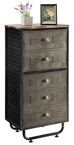 2-Door Metal Bookcase