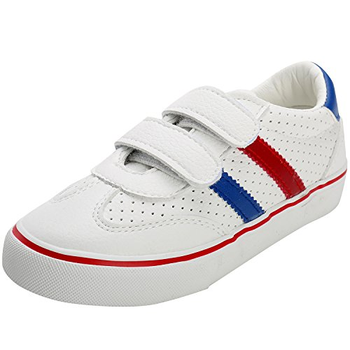 Price comparison product image Alexis Leroy Kid's Shoes Stripe Low-Top Hook&Loop Canvas Shoes White 25 M EU/8.5-9 M US Toddler