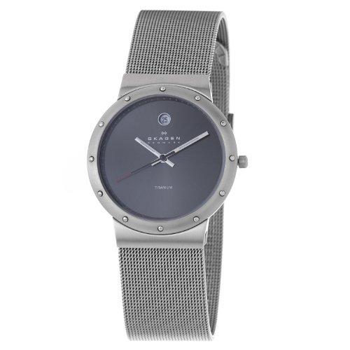 Skagen Titanium Bracelet - Skagen Men's 530LTTMM1 Titanium Grey Dial Titanium Watch