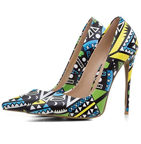Femme Talon A344 Haut Avec Chaussures Seraph Talon Jaune Et Pour Svx7tq