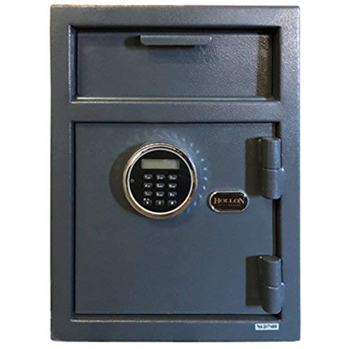 Hollon Safe DP450LK Security Drop Safe, Gray, Medium