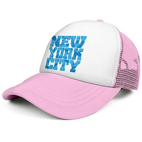 Graphics New York Blue Grunge Pink Unisex Graphics New York Blue Grunge Mens Runningcute Caps Hat