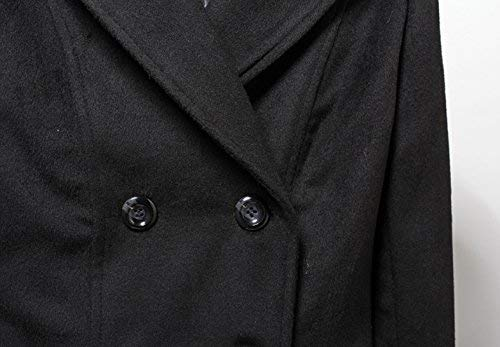 Donna Invernali Slim Di Schwarz Breasted Manica Fit Calda Giubotto Especial Elegante Trench Double Monocromo Estilo Lunga Moda 2 Windbreaker Bavero BdxoeC