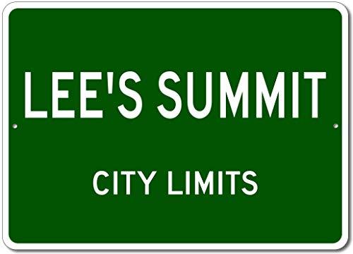 Lee's Summit, Missouri - USA City Limits Street Sign - Aluminum 10