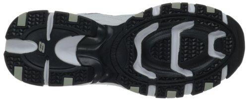 Skechers Sport Vigor 2,0 Memory Foam Sneaker cm, diseño a rayas, Blanco (White/navy), US 10|UK 9|EU 43