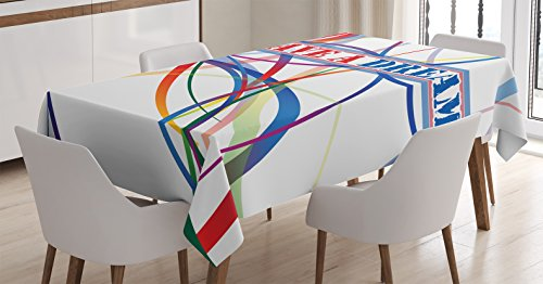 Ambesonne Quotes Decor Tablecloth, I Have a Dream Famous Quote by MLK Black History Month African American, Dining Room Kitchen Rectangular Table Cover, 60 X 90 -