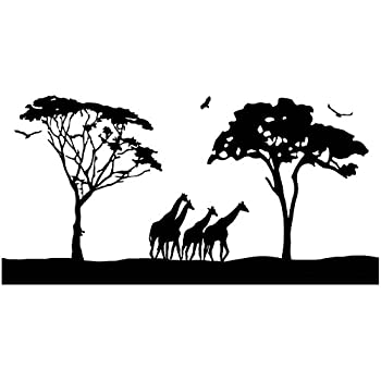 Amazon Com Safari Wall Art Decals Large Animal Wall Decor