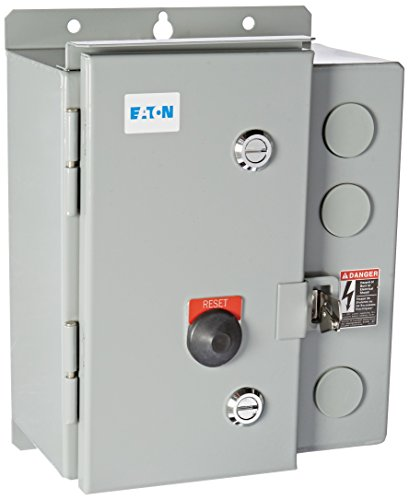 Eaton ECN0512BAA-R63/D Freedom Full Voltage Starter, NEMA Size 1, 3R NEMA Rating, 9A Min Overload, 45A Max Overload, 7.5HP Rating at 230V, 10HP Rating at 460V, 240V Coil Voltage