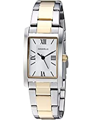 Caravelle Womens Quartz Stainless Steel Dress Watch, Color:Two Tone (Model: 45L167)