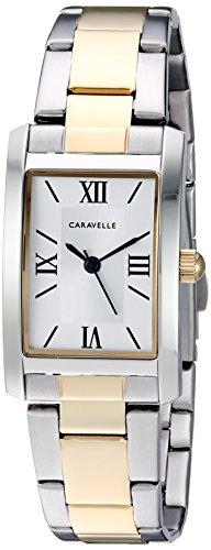 Caravelle Women's Quartz Stainless Steel Dress Watch, Color:Two Tone (Model: 45L167)