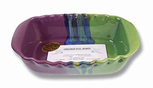 Clay In Motion Handmade Ceramic 1.25 Quart Loaf Pan - Mossy Creek