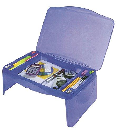 "Storage Folding Lap Desk (Frosted Blue) (2.5""H x 17.5""W x 13""D)"