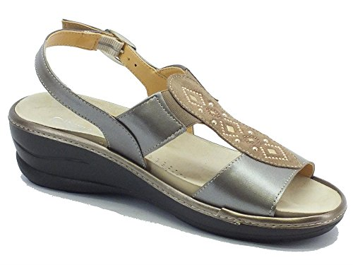 Cinzia Soft Io420p-c Capretto Beige Perla - Sandalias de vestir de Piel para mujer Beige