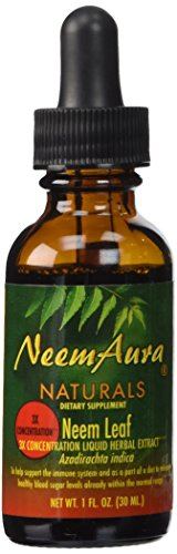 NeemAura Naturals Neem Leaf 3X Concentration, 1-Ounce (Pack of 2) (Neemaura Naturals Neem Extract)