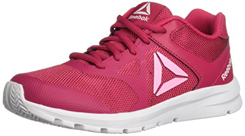 Reebok Unisex-Kids Rush Runner Sneaker, Rugged Rose/Light Pink, 3.5 M US Little Kid (Girls Trainers Childrens)
