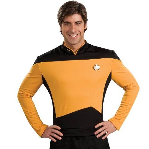 Rubie's Star Trek The Next Generation Deluxe Lt. Commander Data Adult Costume Shirt, Large