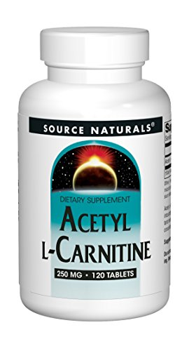 Source Naturals Acetyl L-Carnitine - Supports Healthy Brain Function & Memory - 120 Tablets