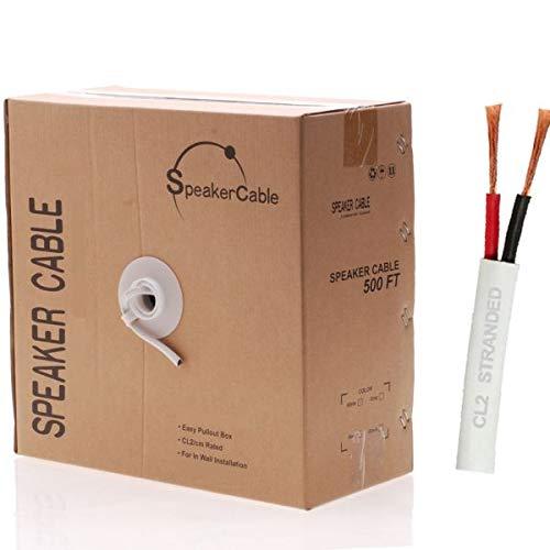 NDA-Electronics Cable Altavoz (2 Conductores Caja de extracción/Altavoz de Alto Rendimiento, sin oxígeno, Cobre...