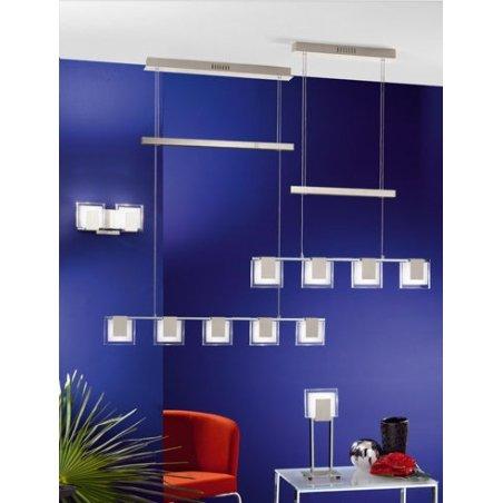 Eglo 90038 Clap 5 Light Modern Pendant Ceiling Light Chromebrushed