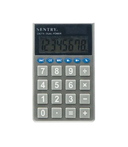 sentry-ca279-jumbo-key-pocket-standard-function-calculator