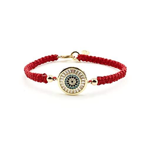 Evil Eye Lucky Charm Bracelet Braided Red Thread for Women Protection ()