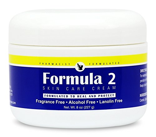 Formula 2 Skin Care Cream | For Very Dry Skin Resulting From Diabetic Dry Skin, Eczema, Psoriasis, Dermatitis, Rashes, Burns. For hands, feet, buttocks, and all over. Pharmacist Formulated.]()