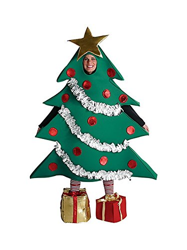 Womens Christmas Tree Costume (Rasta Imposta Christmas Tree Costume, Green, One)