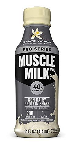 Muscle Milk Pro Series, Mega Protein Shake, Intense Vanilla, 14 Ounce, Pack of 12 - Elite Mega Gainer
