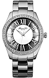 "Kenneth Cole New York Women's KC4851 ""Transparency"" Crystal-Accented Stainless Steel Watch"