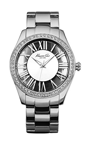 Kenneth Cole New York Women's Japanese Quartz Stainless Steel Case Stainless Steel Bracelet Silver,(Model:KC4851) ()
