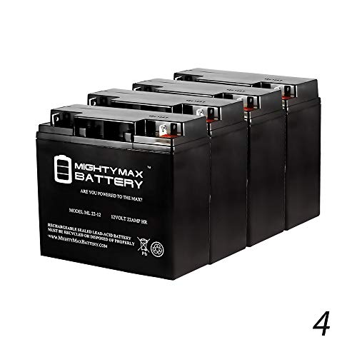 Mighty Max Battery 12V 22AH SLA Battery for Mongoose Fusion Scooter - 4 Pack Brand Product
