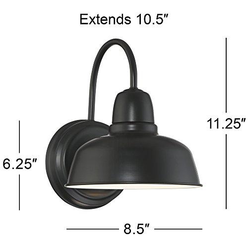 Urban Barn 11 1/4'' High Black Indoor-Outdoor Wall Light by John Timberland (Image #5)