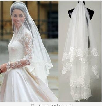 Lovedress 1 Layers Without Comb Wedding Veil White/ivory (White)