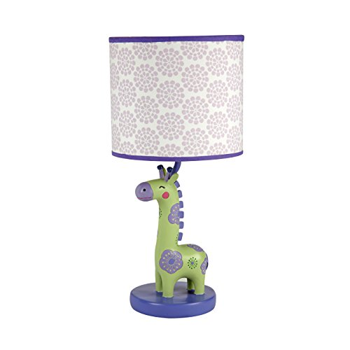Carter's Zoo Jungle/Safari Lamp Base and Shade, Giraffe/Floral/Lavender/Green/White ()
