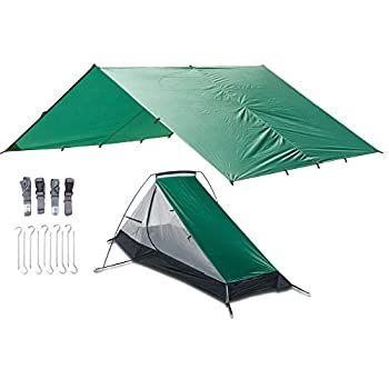 Image of Aqua Quest WEST COAST Bivy Combo - 100% Waterproof Camping Shelter Kit Ultra Light Tarp 10x10 Square and Tent, Peg Stakes, Compression Straps, Stuff Sack Tents