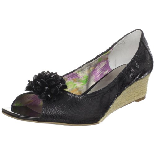 AK Anne Klein Womens Horray Wedge Black