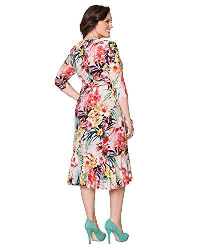 Flirty Flounce Wrap Dress (1X, Sunset Tropics)